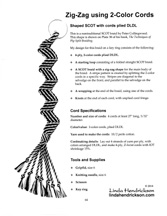 Ply-Split Zig-Zag Braid using 2-Color CordsInstructions