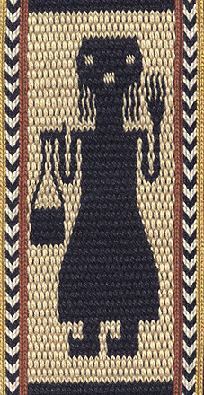 motif based on Ethiopian tablet weaving: the queen's attendant