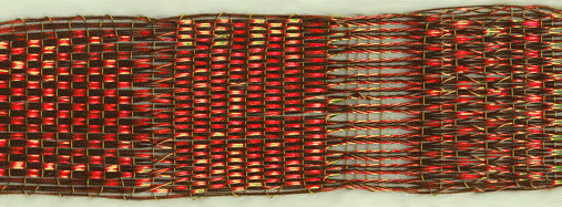 [Tablet weaving with copper wire]
